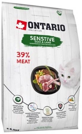 Ontario (Онтарио) - Для кошек с чувствительным пищеварением с уткой и ягненком 2 кг