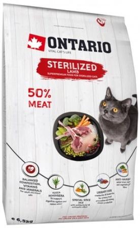 Ontario (Онтарио) - Для стерилизованных кошек с ягненком 0,4 кг