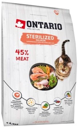 Ontario (Онтарио) - Для стерилизованных кошек с лососем 0,4 кг