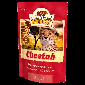 Wildcat Cheetah - Паучи для кошек (дичь, ягненок, лосось) 100 гр