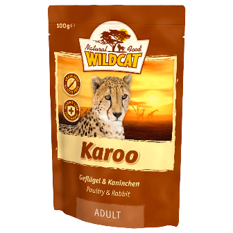 Wildcat Karoo - Паучи для кошек (мясо птиц и кролика) 100 гр