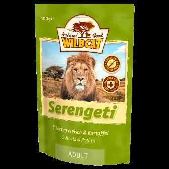 Wildcat Serengeti - Паучи для кошек (5 сортов мяса) 100 гр