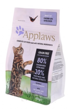 Applaws (Апплаус) - Корм Беззерновой для Кошек Курица и Утка/Овощи: 80/20% 400 гр