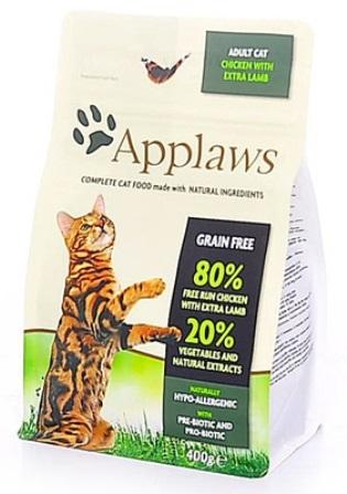 Applaws (Апплаус) - Корм Беззерновой для Кошек Курица и ягненок 80/20% 2 кг (3340)