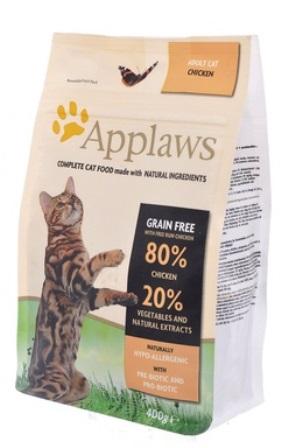 Applaws (Апплаус) - Корм Беззерновой для Кошек Курица/Овощи: 80/20% 2 кг