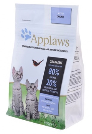 Applaws (Апплаус) - Корм Беззерновой для Котят Курица/Овощи: 80/20% 400 гр