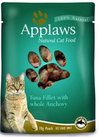 Applaws (Апплаус) - Паучи для Кошек с Тунцом и Анчоусами 70 гр