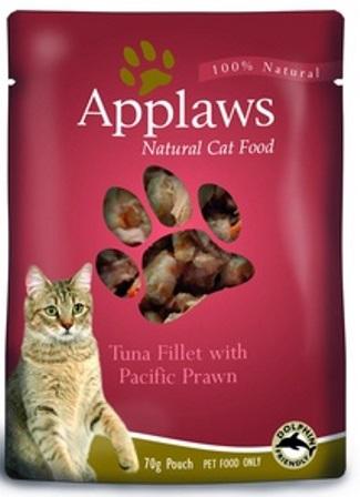 Applaws (Апплаус) - Паучи для Кошек с Тунцом и королевскими креветками 70 гр