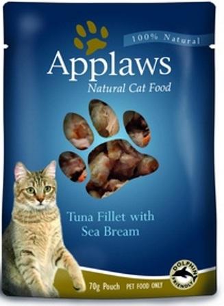 Applaws (Апплаус) - Паучи для Кошек с Тунцом и Морским окунем 70 гр