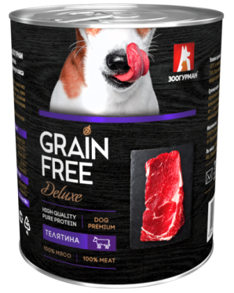 Grain Free Dog - Консервы для собак Телятина 350 гр