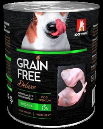 Grain Free Dog - Консервы для собак Кролик 350 гр