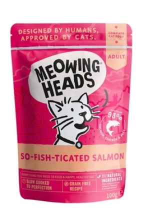 Meowing Heads - Паучи для кошек и котят с лососем, курицей и говядиной Фиш-гурман 100 гр