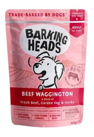 Barking Heads - Паучи для собак с говядиной   Вуф-строганов 300 гр
