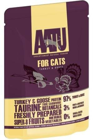 AATU - Паучи для кошек Индейка и Гусь 85 гр
