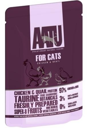AATU - Паучи для кошек  Курица и Перепел 85 гр