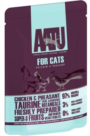 AATU - Паучи для кошек Курица и Фазан 85 гр