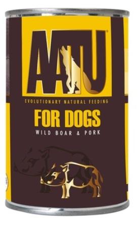 AATU - Консервы для собак Мясо Дикого Кабана и Свинина 400 гр