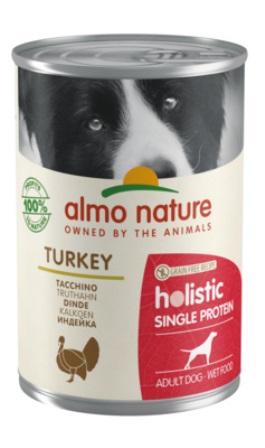 Almo Nature Daily Menu - Консервы для собак с чувствительным пищеварением с Индейкой (монобелковый рацион) 400 гр