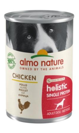 Almo Nature Daily Menu - Консервы для собак с чувствительным пищеварением с Курицей (монобелковый рацион) 400 гр