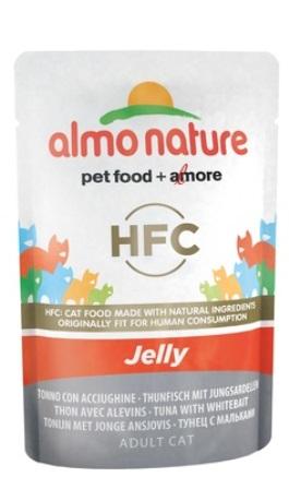 Almo Nature Jelly Cat Tuna&White Bait (Алмо Натюр Джели Кэт Туна энд Уайт Бейт) - Паучи для взрослых кошек тунец с сардинками в желе 55 гр