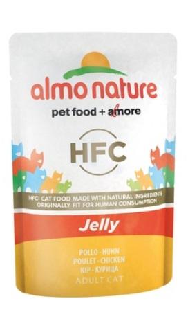 Almo Nature Jelly Cat Chicken (Алмо Натюр Джели Кэт Чикен) - Паучи для взрослых кошек курица в желе 55 гр