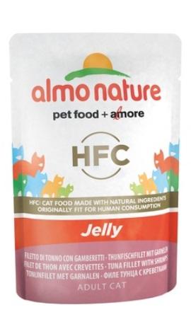 Almo Nature Jelly Cat Tuna&Shrimps (Алмо Натюр Джели Кэт Туна энд Шримпс) - Паучи для взрослых кошек тунец с креветками 55 гр