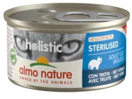 Almo Nature - Консервы для кастрированных кошек с форелью 85 гр