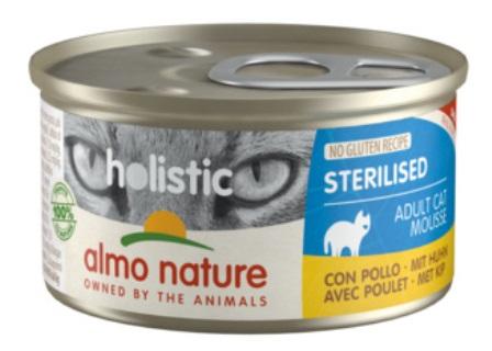 Almo Nature - Консервы для кастрированных кошек с цыпленком 85 гр