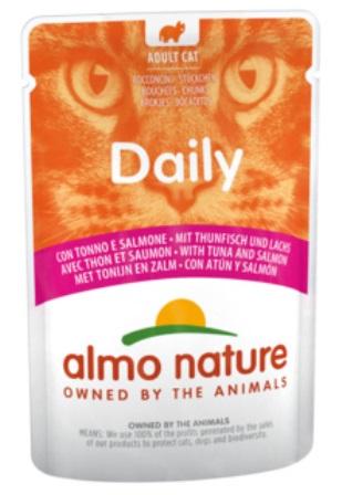 Almo Nature Daily Menu (Алмо натюр Дейли меню) - Паучи для кошек Меню с Тунцом и Лососем 70 гр