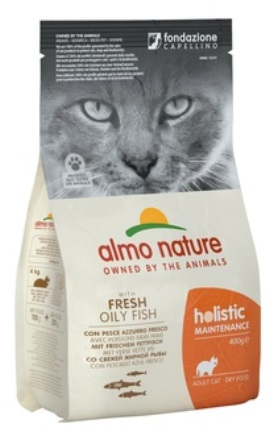 Almo Nature Adult Cat White Fish&Rice (Алмо Натюр Эдалт Кэт Уайт Фиш энд Райс) - Cухой корм для взрослых кошек всех пород (белая рыба с коричневым рисом) 12 кг