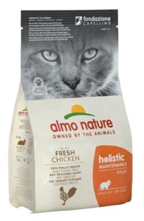 Almo Nature Adult Cat Chicken&Rice (Алмо Натюр Эдалт Кэт Чикен энд Райс) - Cухой корм для взрослых кошек всех пород (курица с коричневым рисом) 0,4 кг