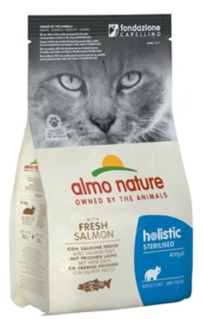 Almo Nature Sterilised (Алмо Натюр Стиралайзд) - Сухой корм для кастрированных кошек с лососем и рисом 2 кг