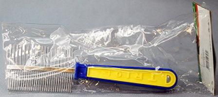 Triol (Триол) - Расческа двусторонняя c пластиковой ручкой (20 см)