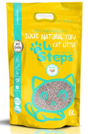 4Steps - Наполнитель Tofu краш комкующийся Оригинальный 6 л