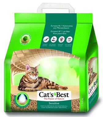 Cat's Best Green Power (Кэтс Бест Грин Пауер) - Наполнитель древесный комкующийся антибактериальный (улучшенная формула комкования и удержания запаха) 8 л