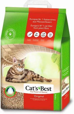 Cat's Best Eko Plus (Кэтс Бест Эко Плюс) - Наполнитель древесный комкующийся (для кошек) 10 л