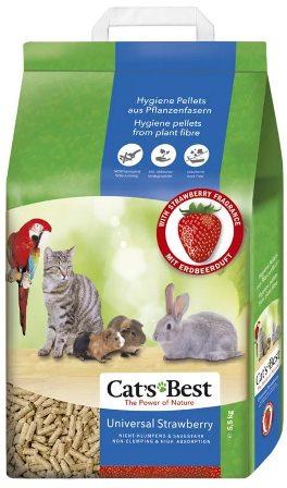 Cat's Best Universal (Кэтс Бест Универсал) - Наполнитель древесный впитывающий с ароматом клубники 10 л