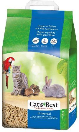 Cat's Best Universal (Кэтс Бест Универсал) - Наполнитель древесный впитывающий 10 л