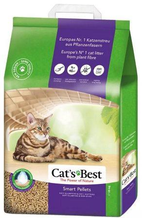 Cat's Best Nature Gold (Кэтс Бест Нейчур Голд) - Наполнитель древесный комкующийся (для длинношерстных кошек) 10 л
