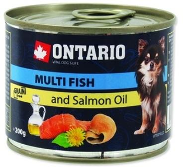 Ontario - Консервы для собак: рыбное ассорти 200 гр