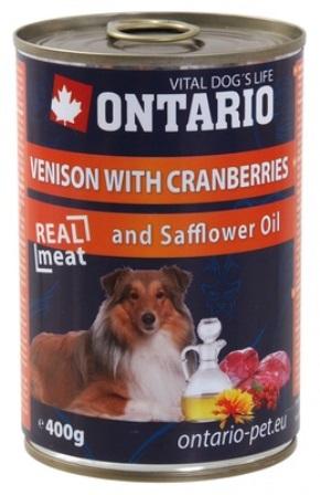 Ontario - Консервы для собак: оленина и клюква 800 гр