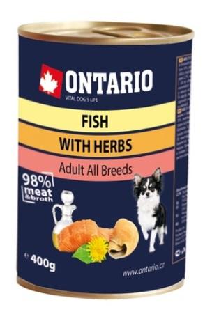 Ontario - Консервы для собак: рыбное ассорти 400 гр