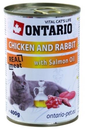 Ontario - Консервы для кошек: курица и кролик 400 гр