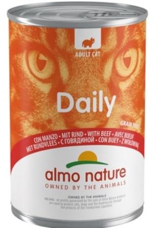Almo Nature Daily Menu - Консервы для кошек Меню с Говядиной 400 гр