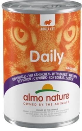 Almo Nature Daily Menu - Консервы для кошек Меню с Кроликом 400 гр