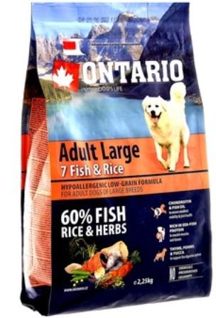 Ontario (Онтарио) - Для собак крупных пород с 7 видами рыбы и рисом 12 кг