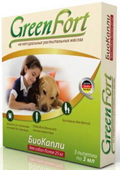 Green Fort Bio (Грин Форт Био) - Капли от блох и других эктопаразитов для собак крупных пород 2,5 мл