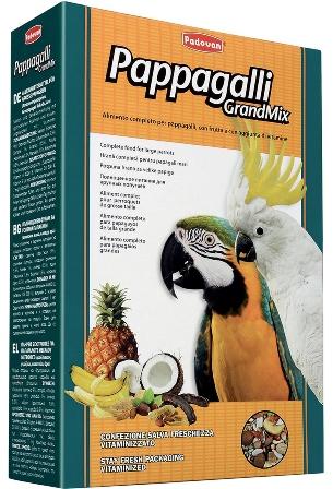 PADOVAN Grandmix Pappagalli - Основной корм для Крупных попугаев 600 гр