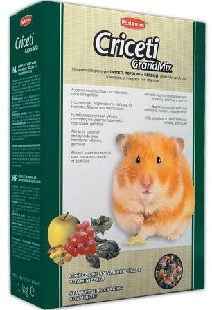 PADOVAN Grandmix Criceti - Основной корм для Хомяков и Мышей 1 кг
