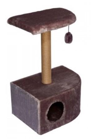 Домик-когтеточка угловой (джутовая)